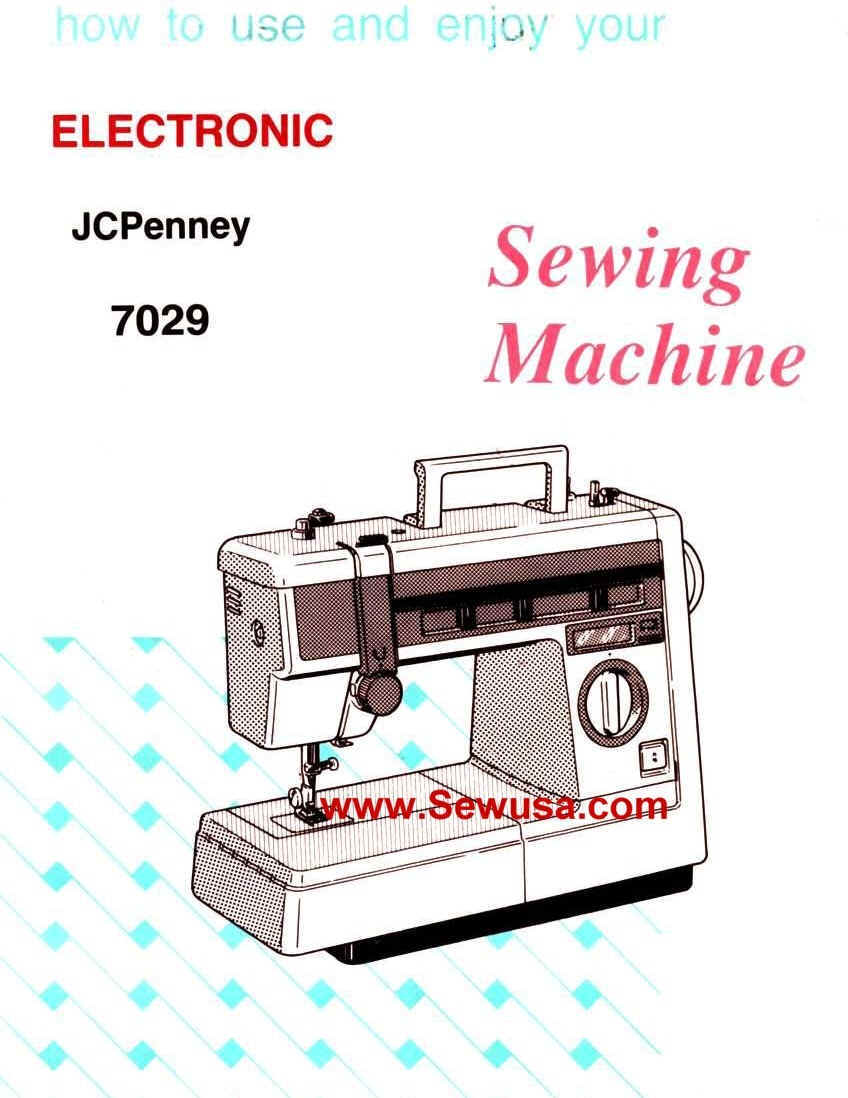 Jc Penney Sewing Machine Instruction Manuals And Repair Sewusa Threading Diagrams 7029 Manual